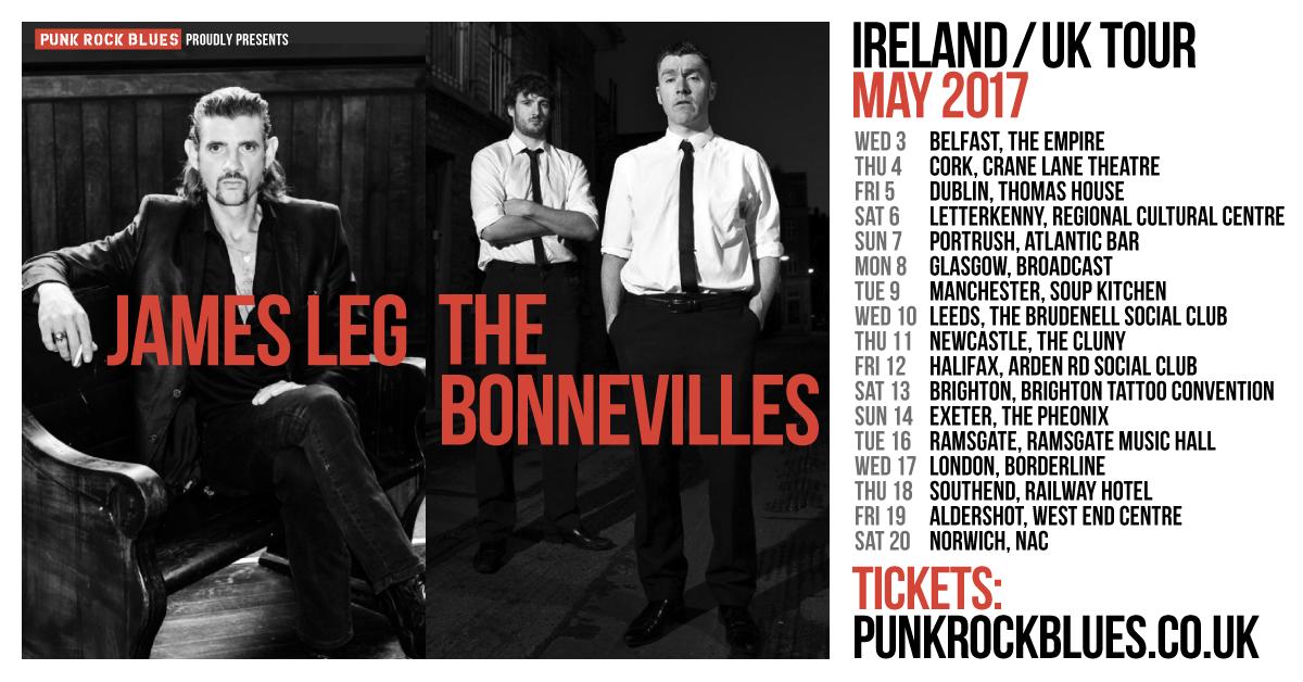 James Leg_ The Bonnevilles [tour poster]