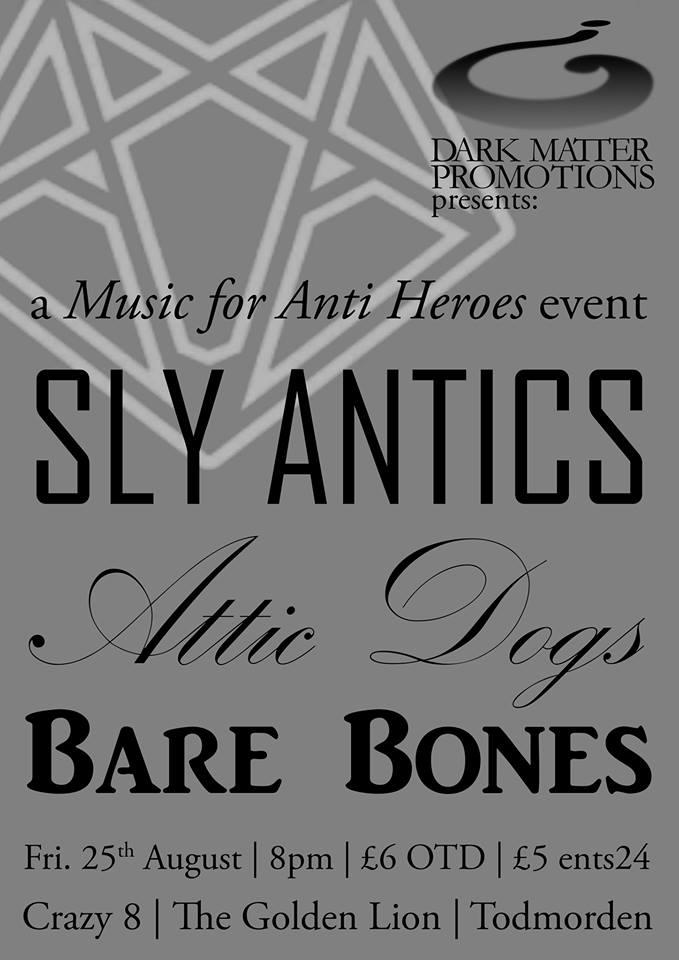 Sly Antics_ Attic Dogs_Bare Bones_ promo artwork